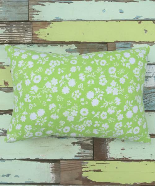 Lime Green Feedsack Pillow