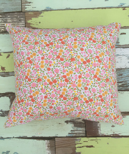 Floral Feedsack Pillow (square)