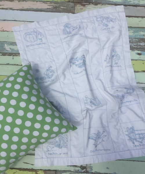 Embroidered Nursery Rhyme Blanket