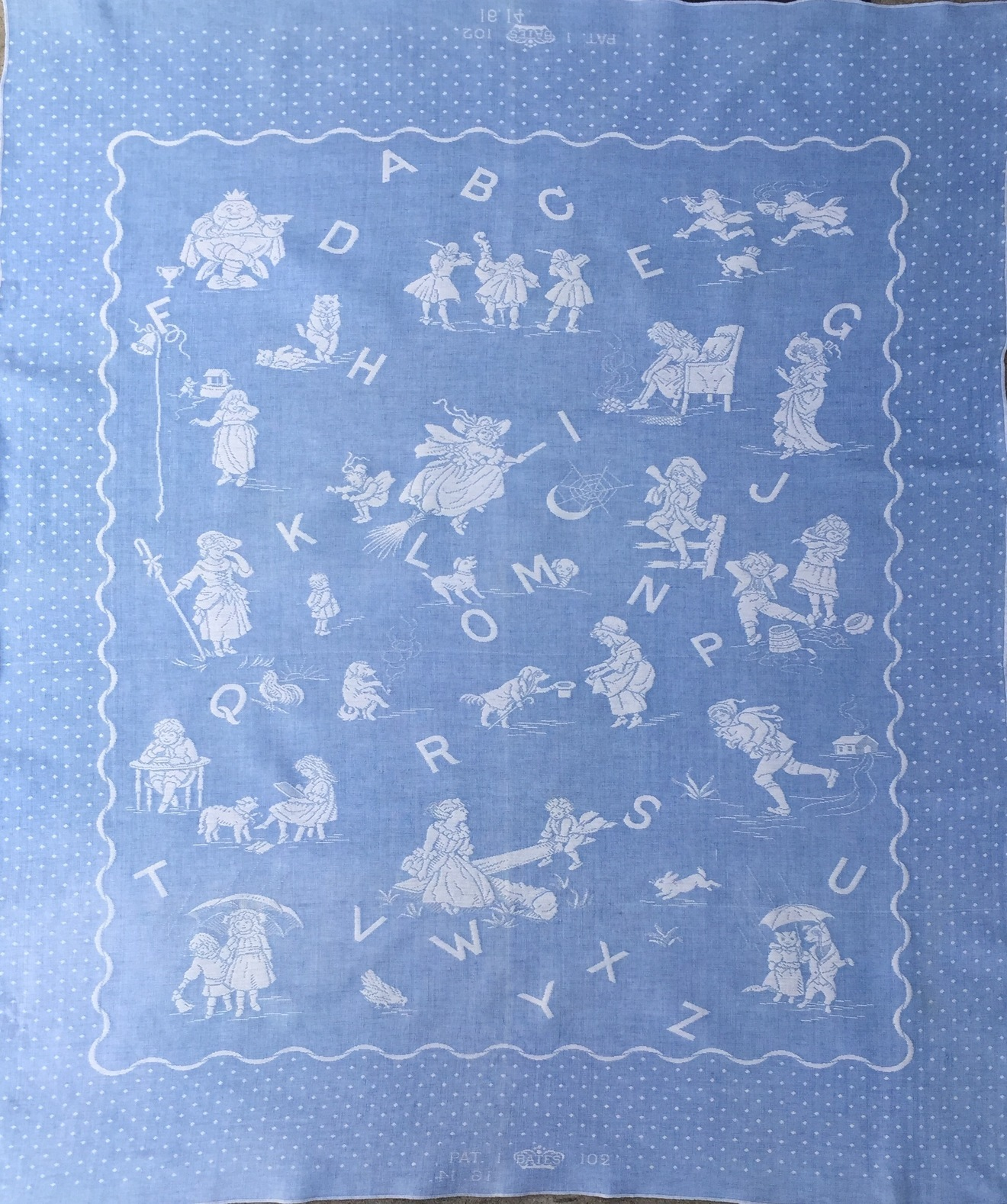 Bates Alphabet Blanket