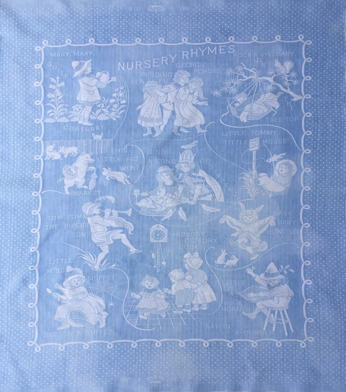 Bates Nursery Rhyme Blanket