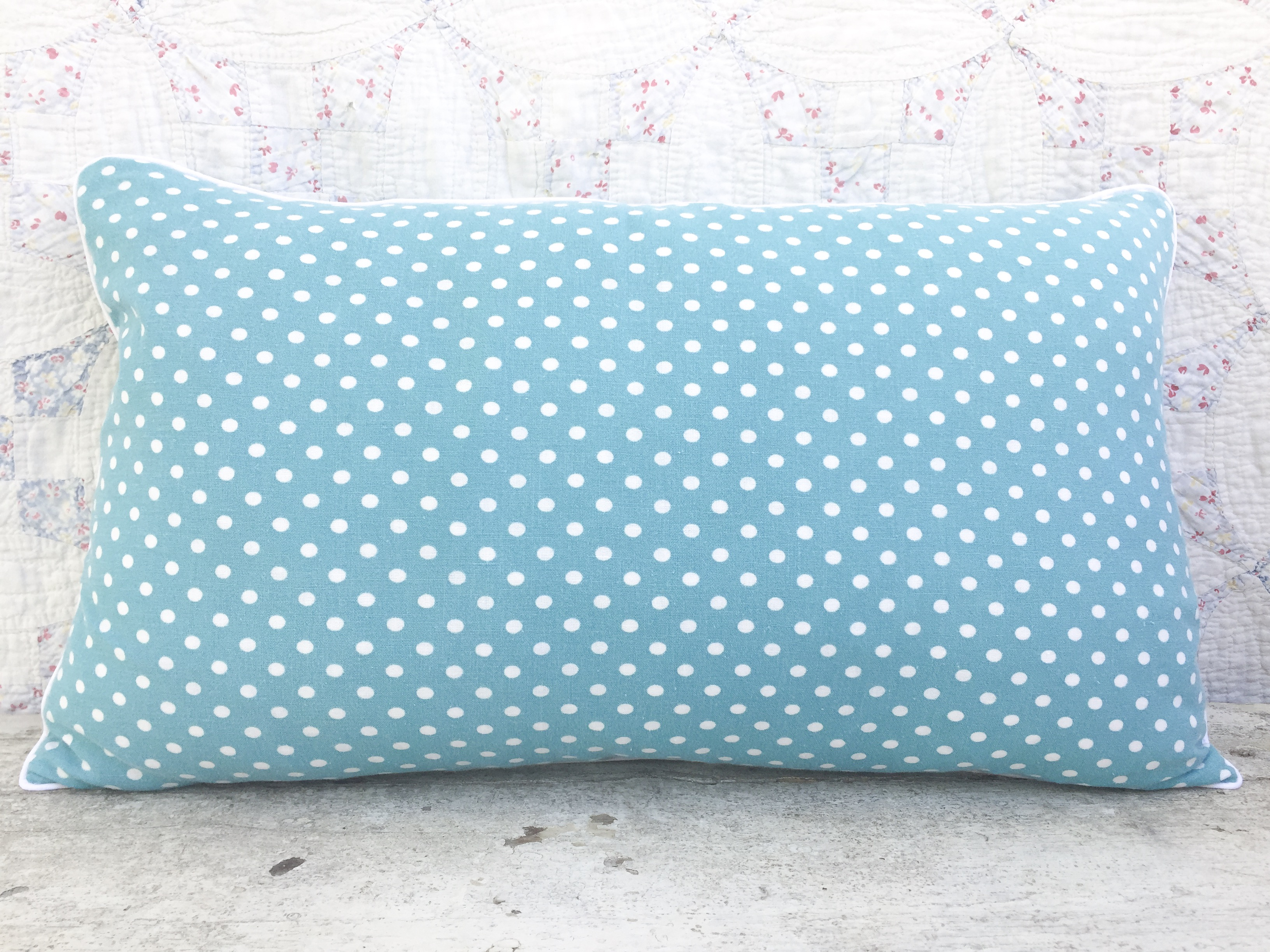 Minnie Vintage Feedsack Lumbar Pillow