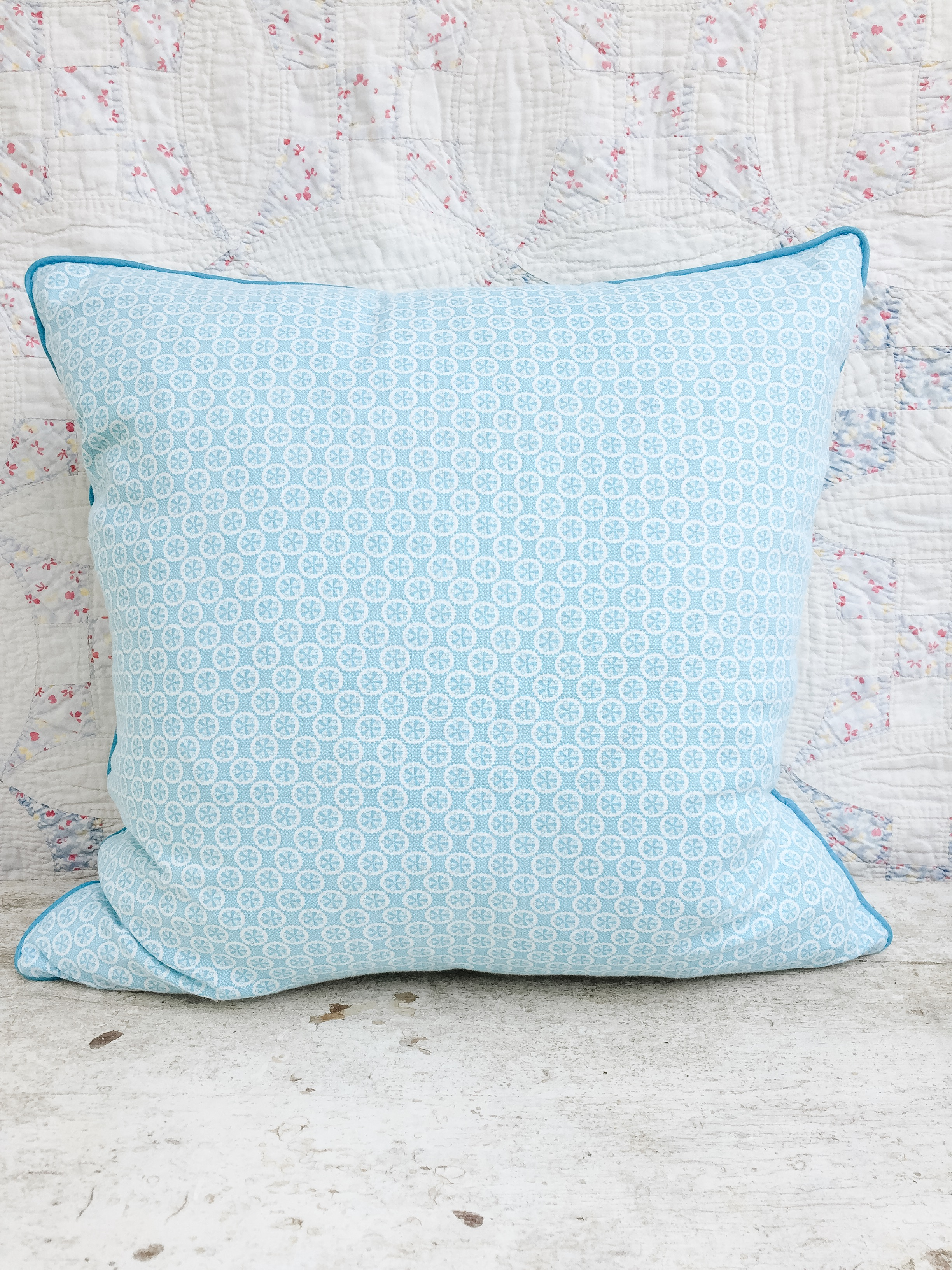 Penelope Vintage Feedsack Pillow