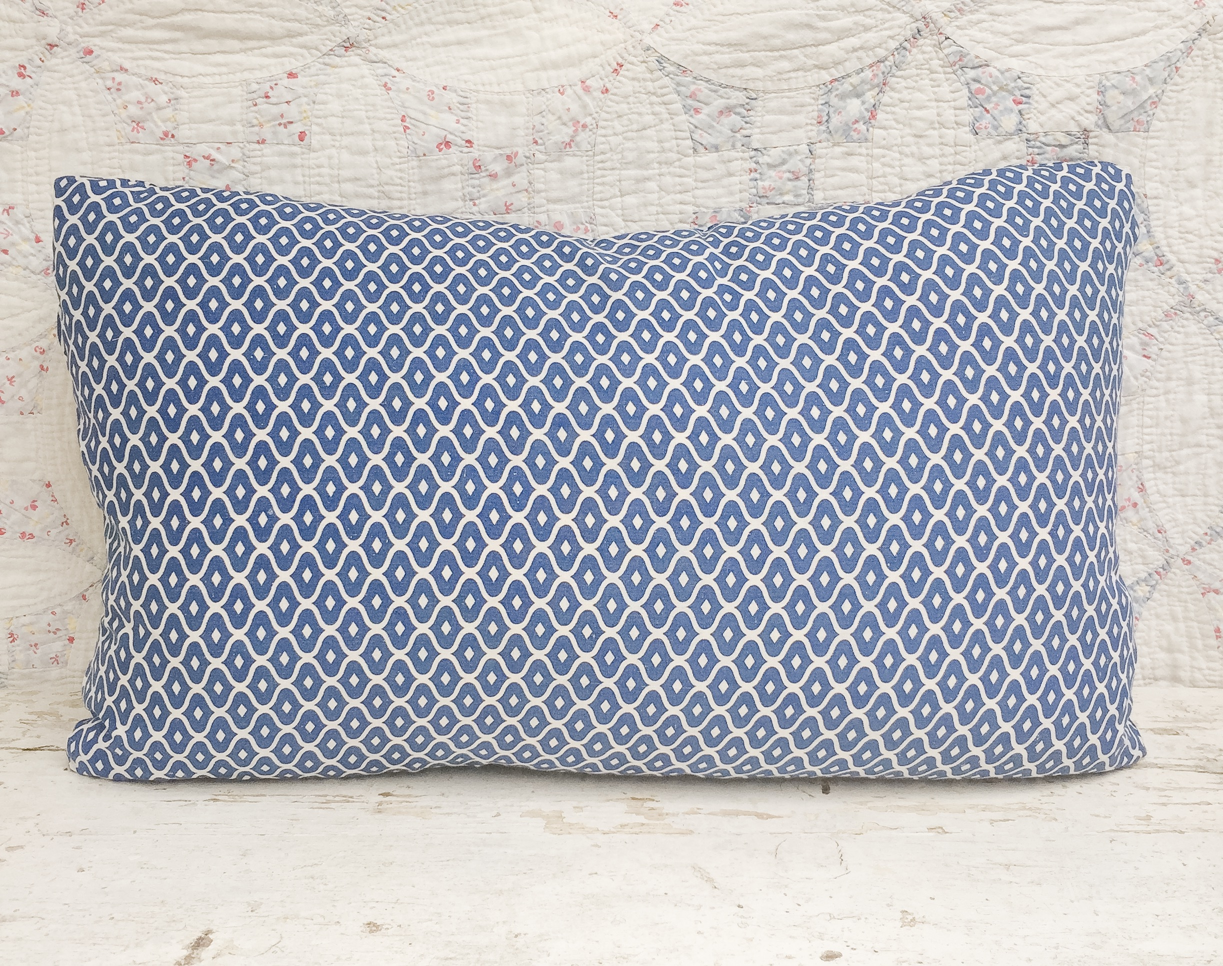 Atticus Vintage Feedsack Pillow