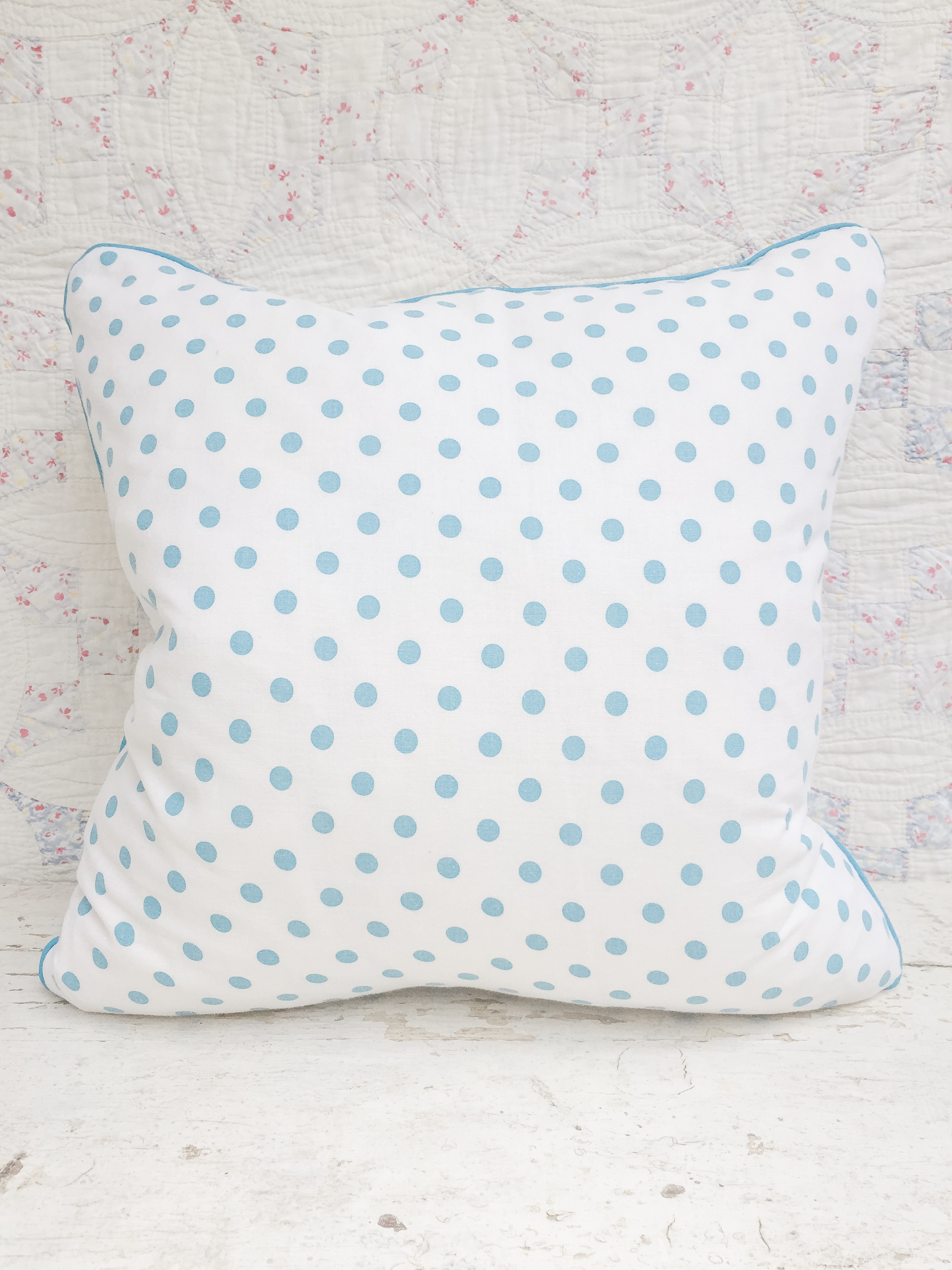 Opal Vintage Feedsack Pillow
