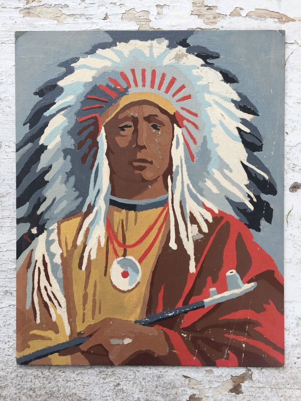 Indian Chief Paint-By-Number
